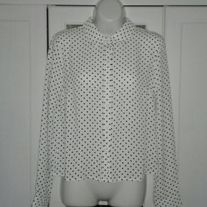 NWT White Button Down Blouse